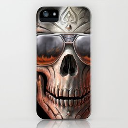 triball skull / Gothique Poster - Feu D'Enfer iPhone Case