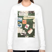 stickers Long Sleeve T-shirts featuring stickers by kazmcart