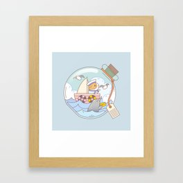 Bubu the Guinea pig, A jar of adventure Framed Art Print