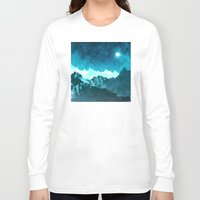 outer space Long Sleeve T-shirts featuring Outer Space Mountains by Phil Perkins