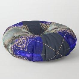 Inde Cosmologique I Floor Pillow