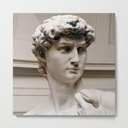 "Michelangelo ""David"" (head)(1) Metal Print"