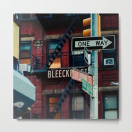 Bleecker & Sullivan Street Metal Print