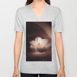 Floating Candle Light Unisex V-Neck