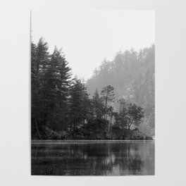 Historic Mattawa River in Black and White Poster