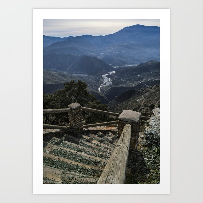 Stairway to the valley Art Print