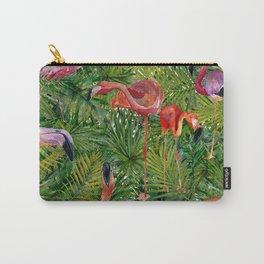 Aloha- Flamingo Bird Jungle Carry-All Pouch
