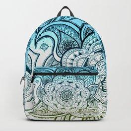 Mandala Blue Yellow Backpack
