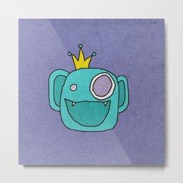 Slightly Amused Monsters, XIV Aquamarine Metal Print