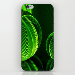 Lime lines in the glass balls. iPhone Skin