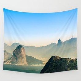 Rio de Janeiro Panoramic Photography Wall Tapestry