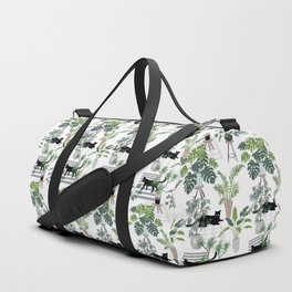 cats in the interior pattern Duffle Bag