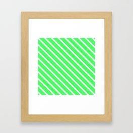 Mint Julep #1 Diagonal Stripes Framed Art Print