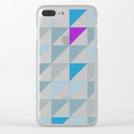 Triangles2 Clear iPhone Case
