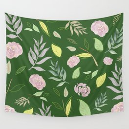Simple and stylized flowers 9 Wall Tapestry