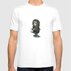 Hedgehog in the fog Mens Fitted Tee LARGE White