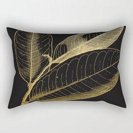 The golden leaf Rectangular Pillow