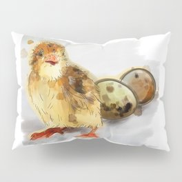 Chick with eggs Pillow Sham