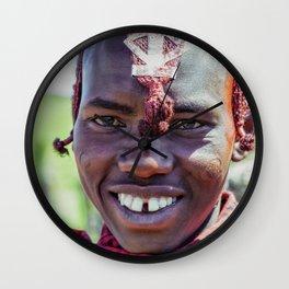 Maasai 4220 Portrait Ngorongoro Tanzania Wall Clock