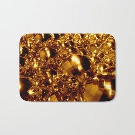Gold Christmas Ornaments Bath Mat