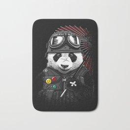 Biker panda Bath Mat