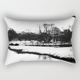 Reflection in the snow Rectangular Pillow