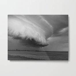 Cape Tryon Vortex Black and White Metal Print
