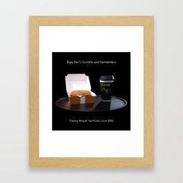 Bigly Don's Covfefe and Hamberders Framed Art Print
