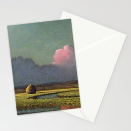 Sunlight And Shadow The Newbury Marshes By Martin Johnson Heade | Reproduction Stationery Cards