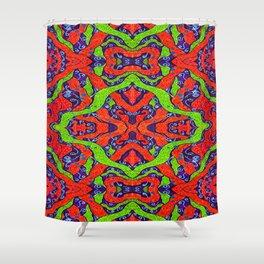 Fluoro Snake Pattern Shower Curtain