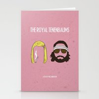 the royal tenenbaums Stationery Cards featuring The Royal Tenenbaums by gokce inan