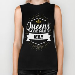 Queens-are-born-in-May Biker Tank