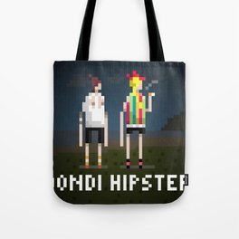Bondi Hipsters in 8-Bit. Tote Bag