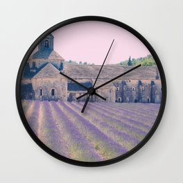 Lavender Fields in Provence, France Wall Clock