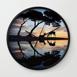 Nature reflection Wall Clock