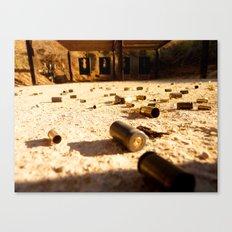the shooting range.  Canvas Print