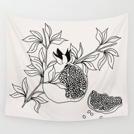 Pomegranate (BW) Wall Tapestry