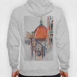 Florence Italy illustration, Firenze duomo Hoody
