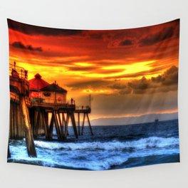 Northside Huntington Beach Pier Wall Tapestry