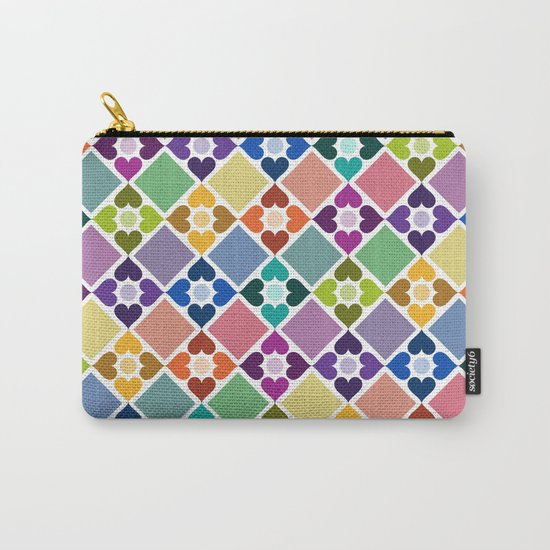 Colorful Floral Pattern II Carry-All Pouch