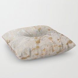 Gold Hide Print Metallic Floor Pillow