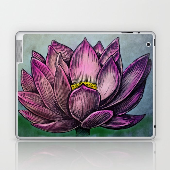 Lotus Flower Laptop Ipad Skin By Werkofart Society6