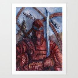 Aquanoid Warrior Art Print