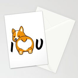 I love corgis and you Stationery Cards