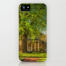 The Stone Cottage On A Spring Evening iPhone Case
