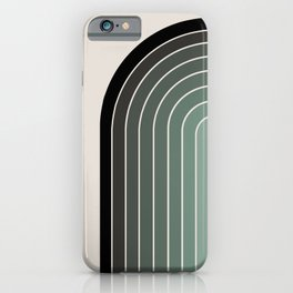 Gradient Arch - Green Tones iPhone Case