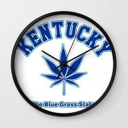 Kentucky Blue Grass Wall Clock