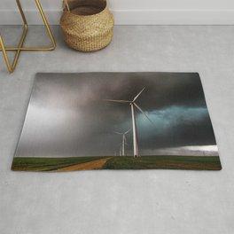 Wind Farm - Renewable Energy on the Texas Plains Rug