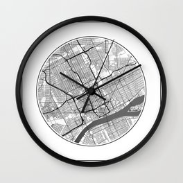 Detroit Map Universe Wall Clock