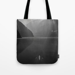Rowing - Milford Sound, New Zealand Tote Bag